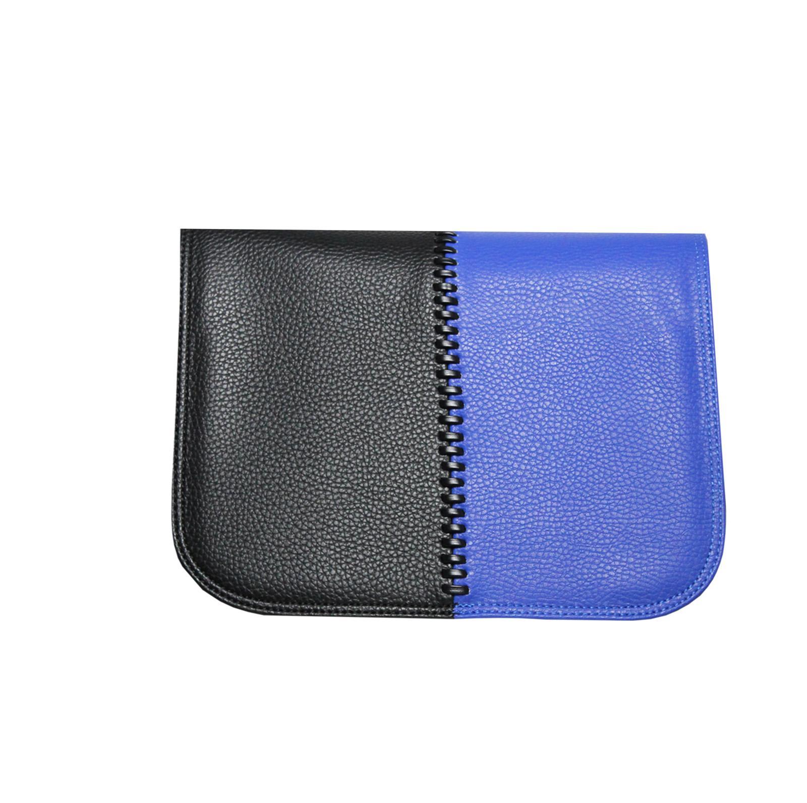schwarz blaues Design für die soft Handtasche von Delieta