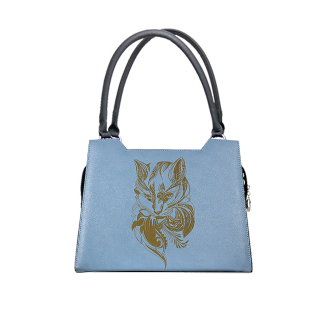 Blaues Design mit Mandala Katze Modell elegance