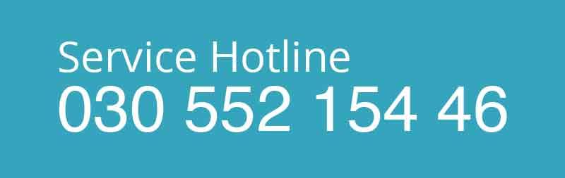 Button Service Hotline Telefonnummer