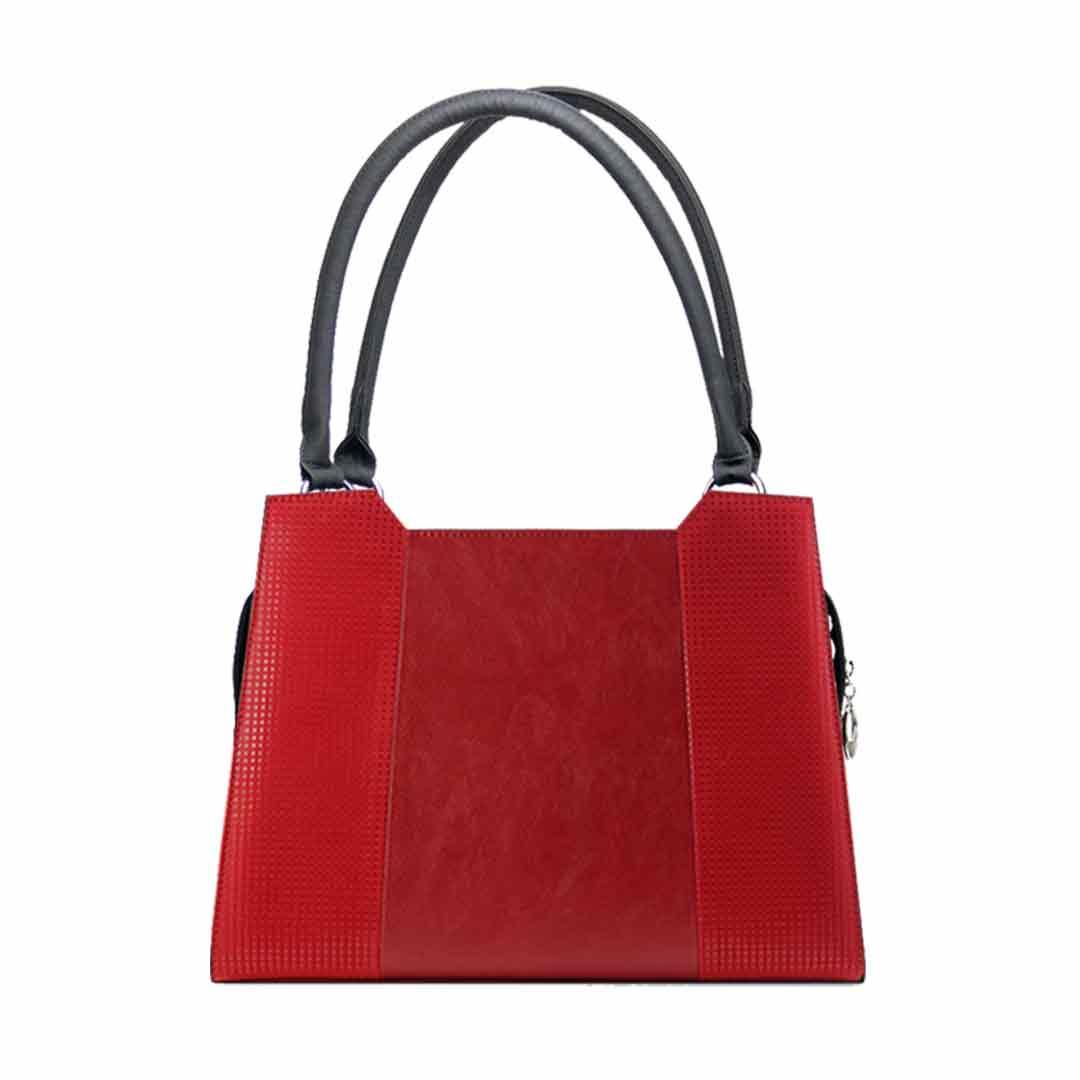 Rote Handtasche elegance komplett