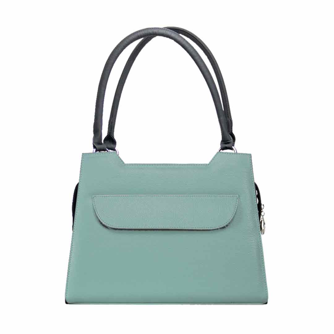 Mintgrüne Damenhandtasche mit Klappe Delieta elegance