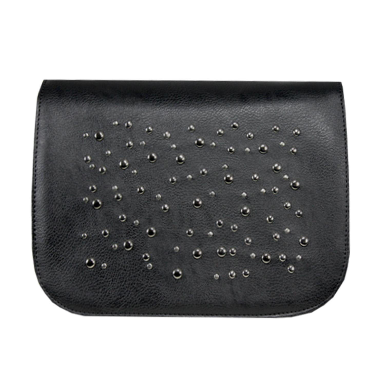schwarzes Design mt Metallapllikationen für die Handtasche Delieta soft