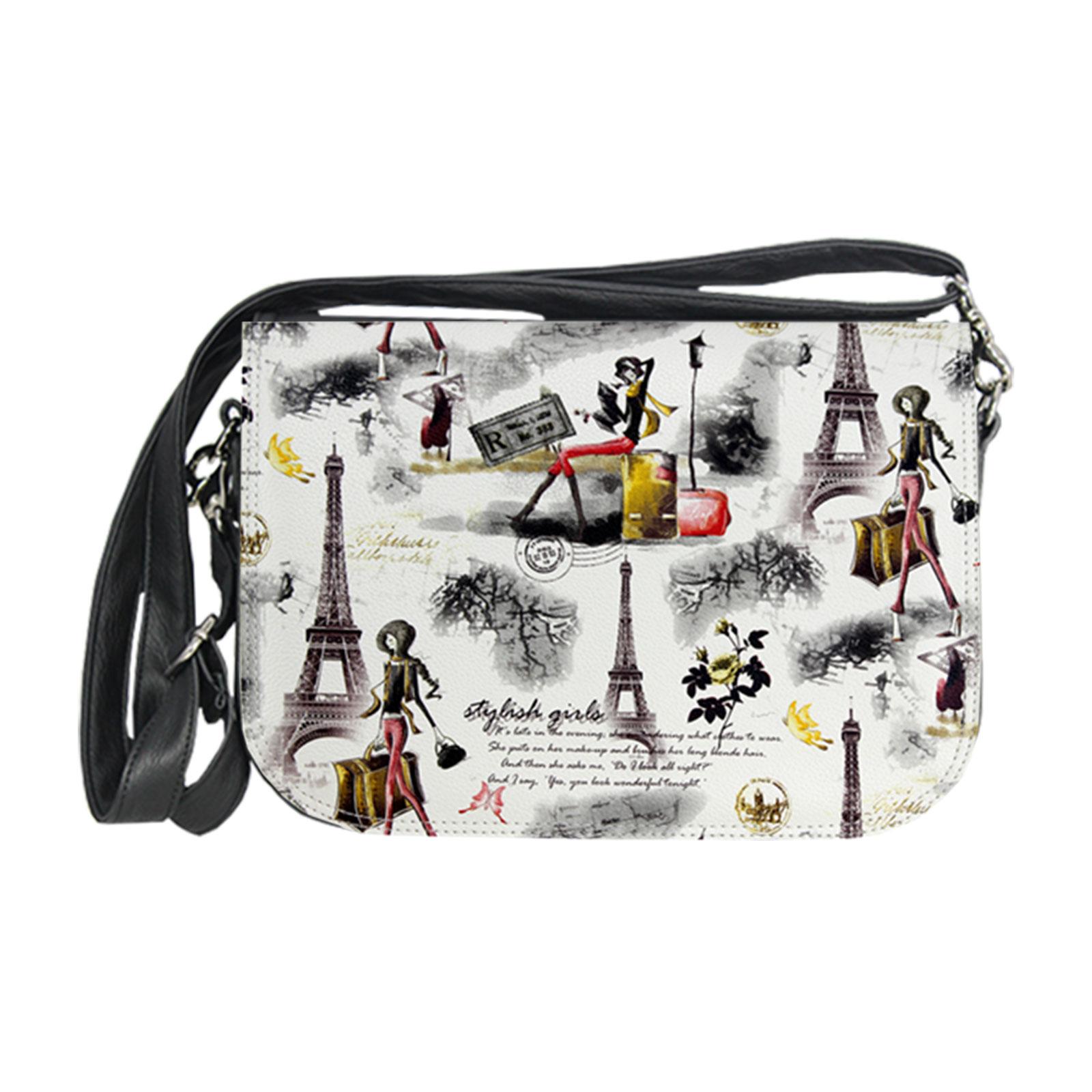 stylishe Handtasche mit Fotodruckelementen