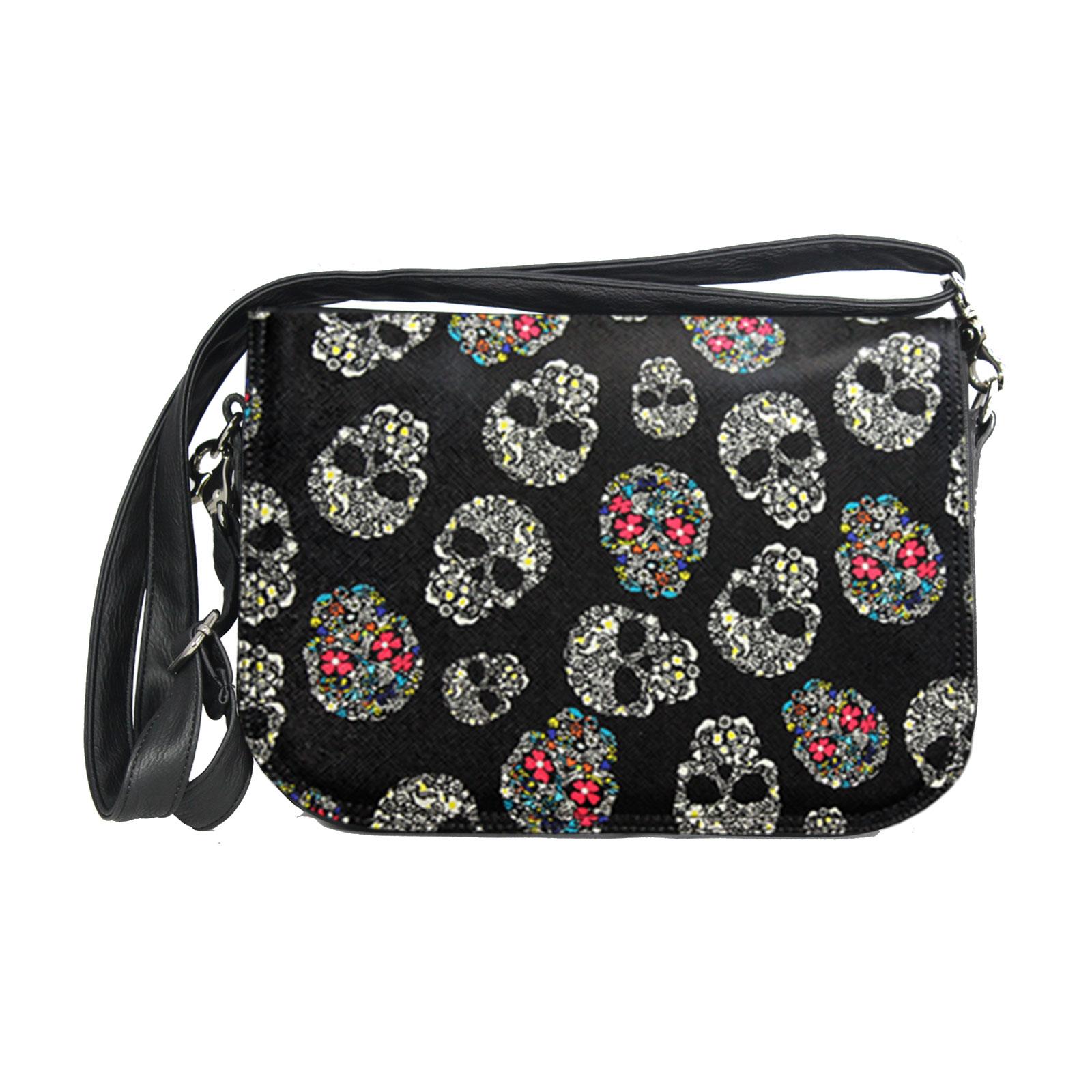 Damenhandtasche mit Totenkopfdesign Delieta soft
