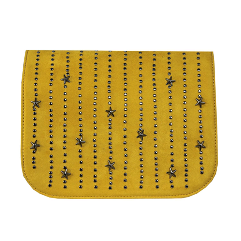 gelbes Wechseldesign mit Metall Applikationen  für Delieta soft Bag