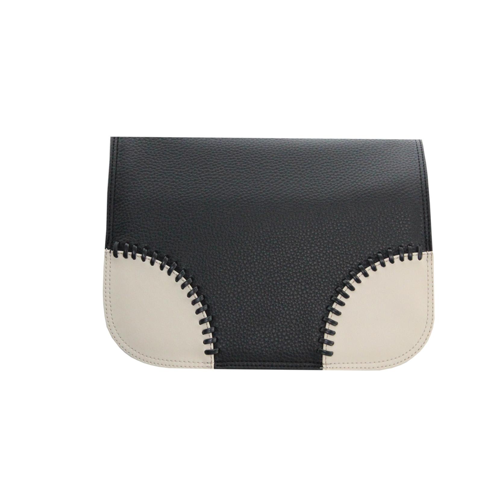 schwarzes Wechseldesign mit cremefarbenen Ecken für die Taschen von Delieta der Serie soft Bag