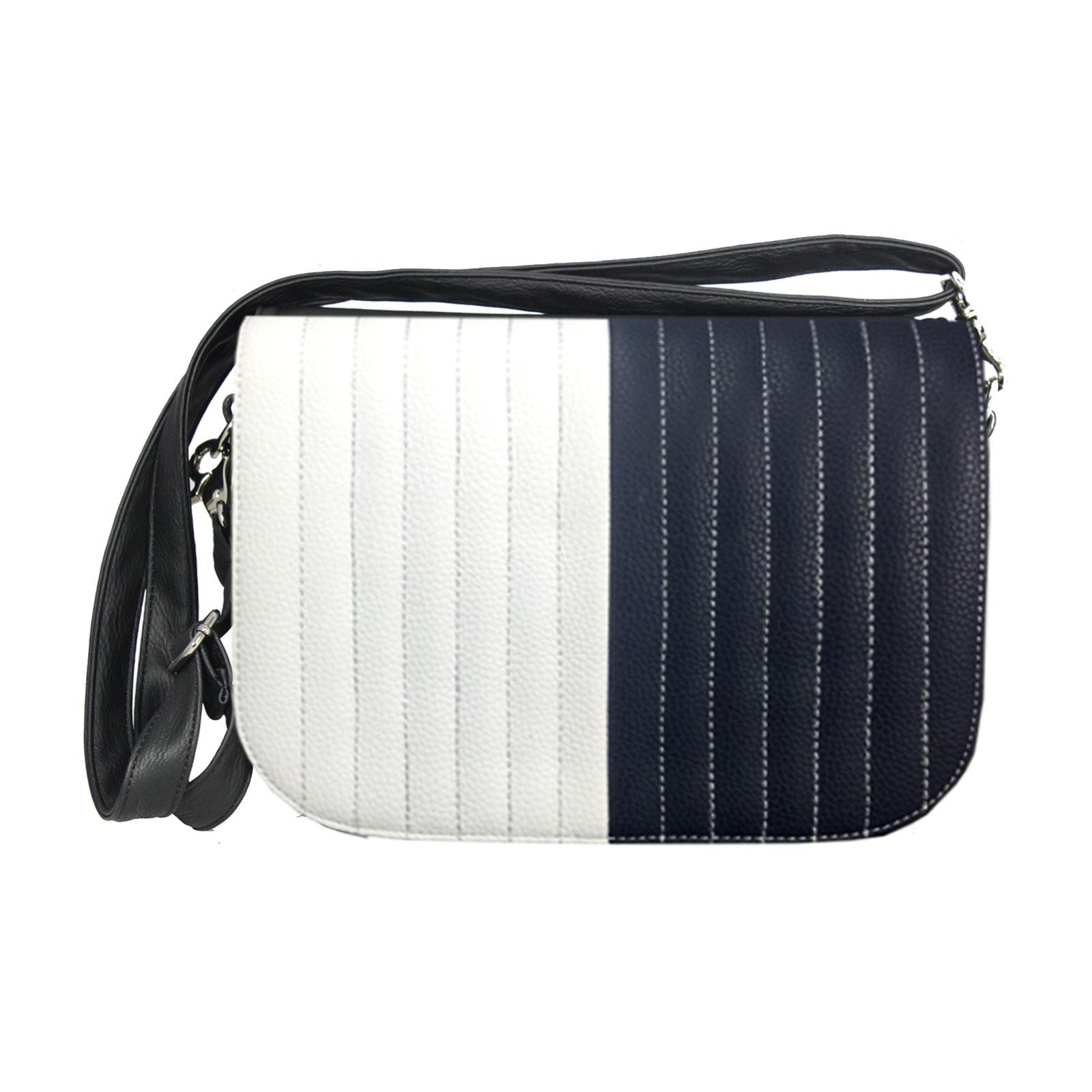 Handtasche mit dunkelblauen und weißen Design  Delieta soft Bag
