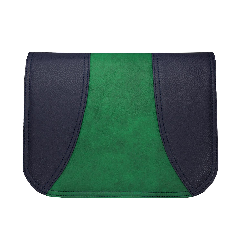 dunkelblaues Wechseldesign mit dezenten Grün im Zentrum vom Design passend für die Delieta soft Bag