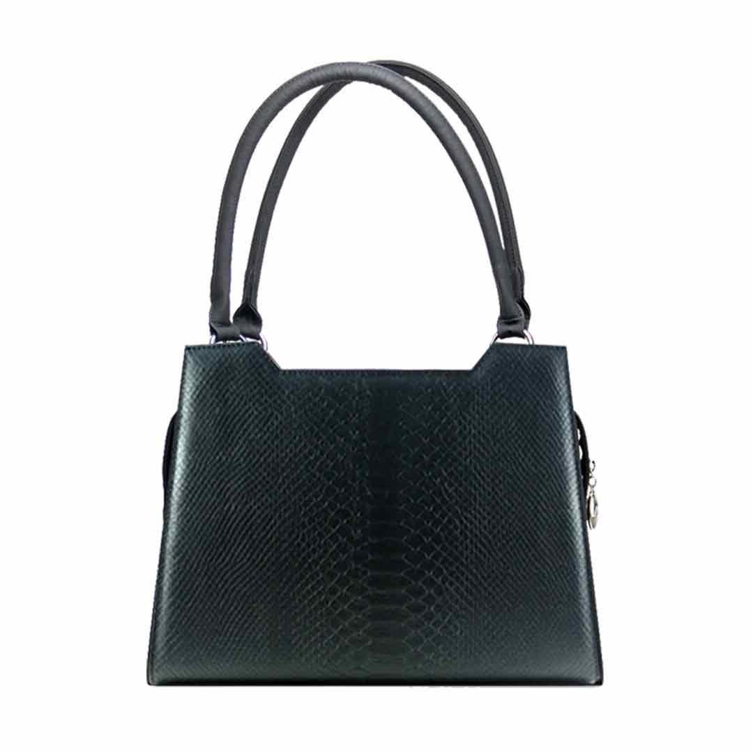 klassische schwarze Handtasche Modell kent elegance
