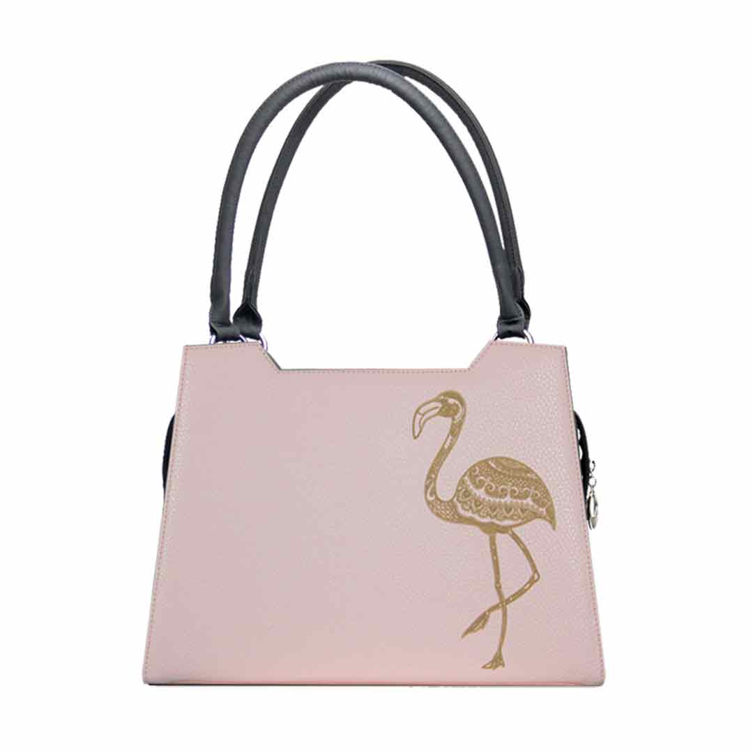 zart Rosa Design mit Lasergravur Flamingo Modell elegance