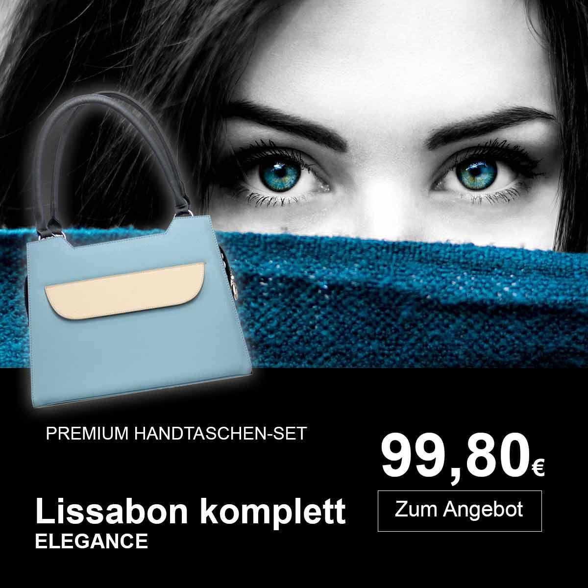 Lissabon hellblau/weiß Komplett Set