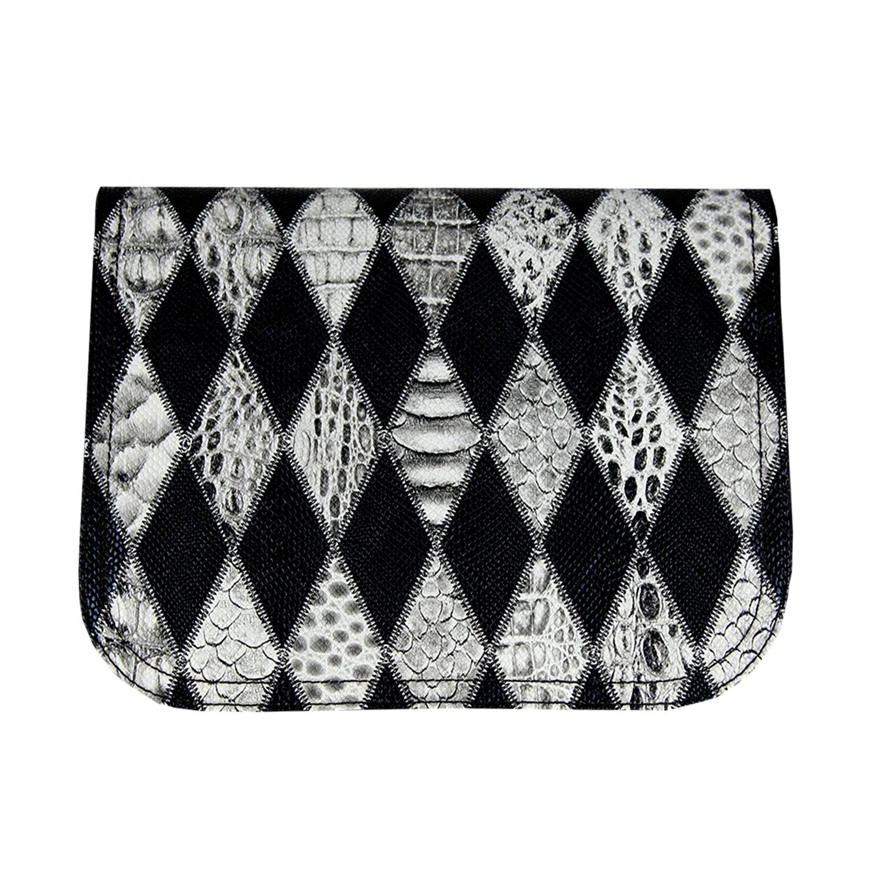 schwarz weisses Rautenmuster im Zebralook für die Damenhandtasche Delieta soft