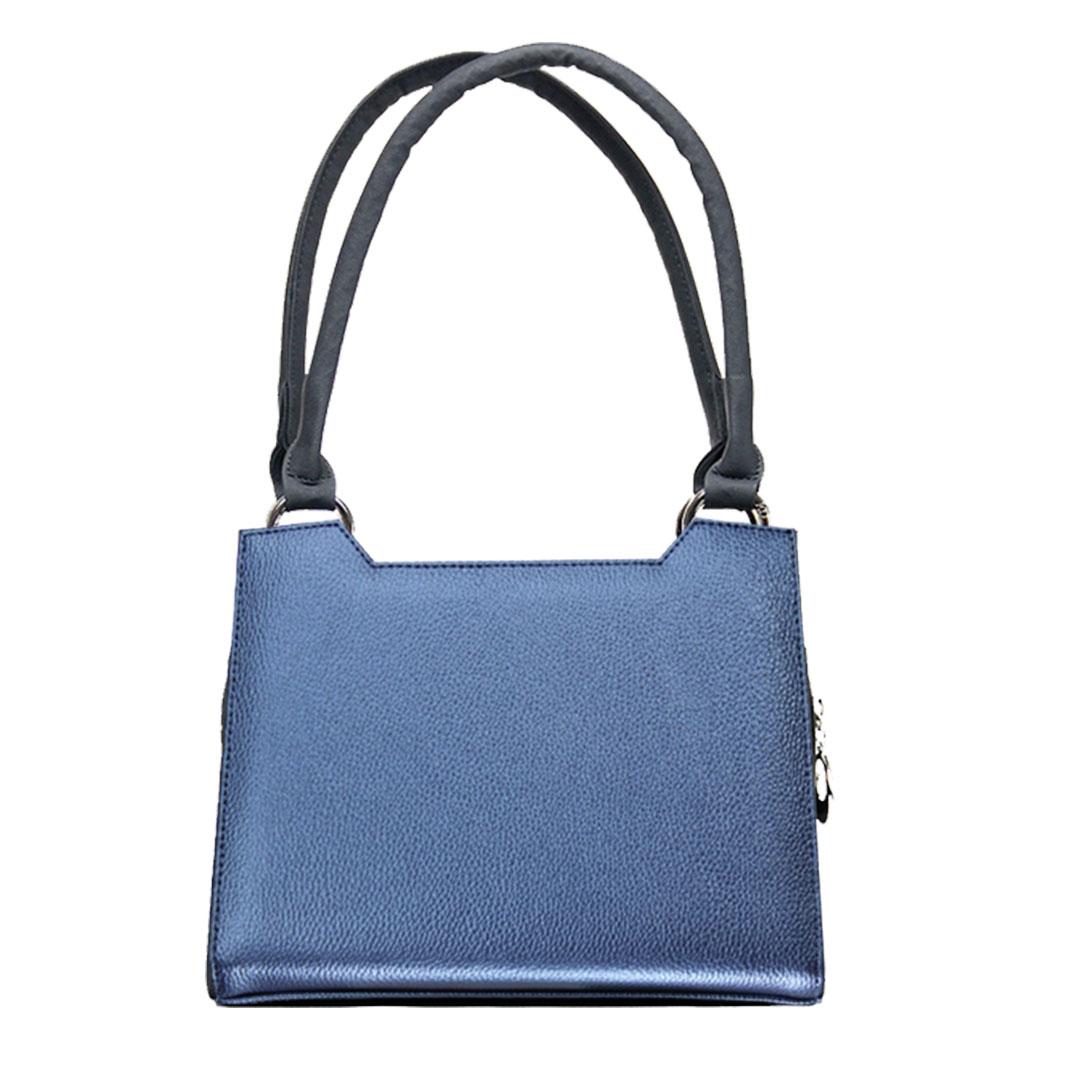 Metallic blaues Handtaschen komplett Sparset
