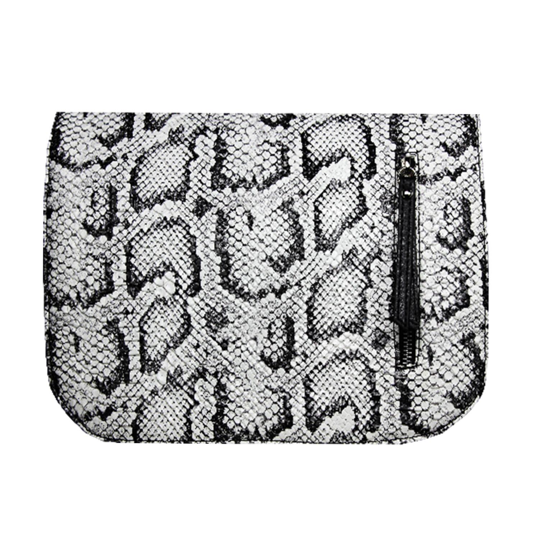 schwarz weißes Wechseldesign im Animalprint für die Damenhandtasche von Delieta