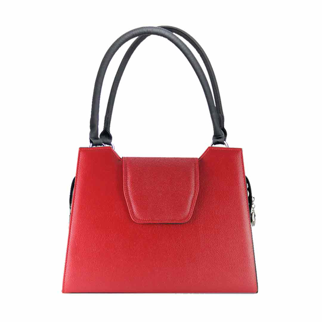 rote Handtasche mit Klappe Delieta London