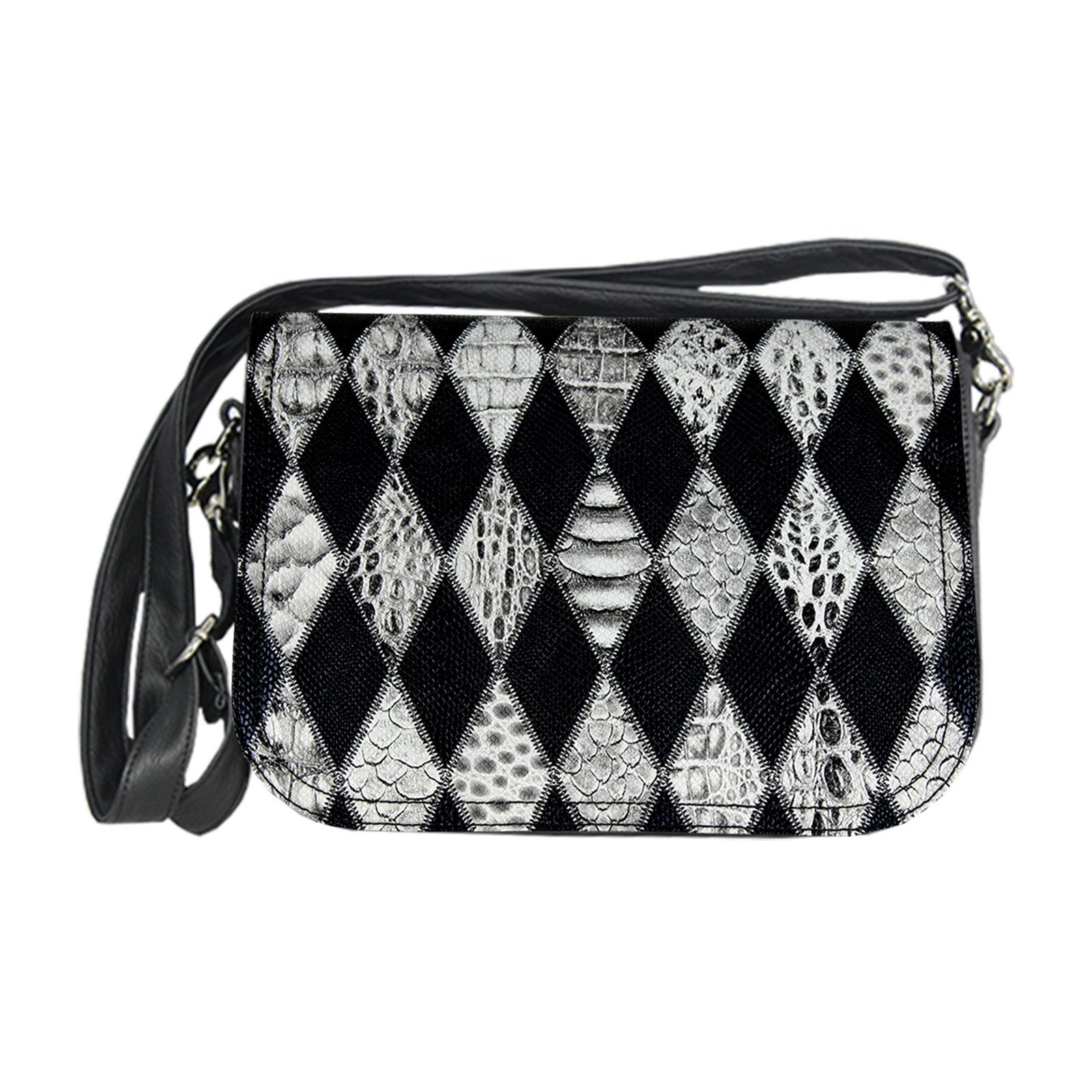 schwarz weiße Handtasche im Zebradesign